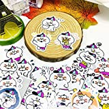 TTBH Lindo pequeño Gato Blanco Pegatina Anime Icono Pegatinas Regalos para niños a portátil Maleta Guitarra Nevera Bicicleta Coche Juguete 40 Uds