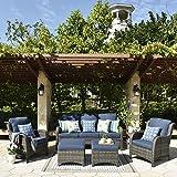 XIZZI Patio Furniture Sets Clearance,Outdoor Furniture,All Weather Wicker Patio Set (5pcs, Denim Blue)