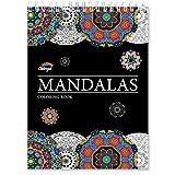 Livre de Coloriage Adultes Mandalas Anti-Stress: le Premier Cahier de Coloriage Adulte à Spirale et Papier Artiste sans Bavure au Format A4 par Colorya