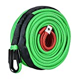 Astra Depot Synthetic Winch Rope Cable Green 22000lbs 95ft x 3/8 inch with All Rock Guard 7/16' Compatible for Jeep ATV UTV 4X4 Off-Road Truck