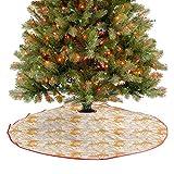 Homesonne Alfombra de árbol abstracta dibujo de tallos florecientes brotes florecientes, naturaleza que viene viva, fina artesanía decorativa, hermosa adición destacada naranja blanco 122 cm