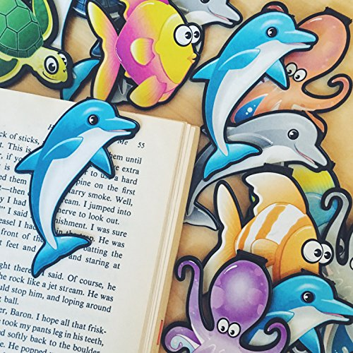 Dolphin, Fish, Octopus, Turtle Bulk Bookmark Assortment...