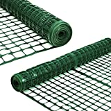 Sunnyglade 4 X100 Ft Outdoor Snow Fence Plastic Safety Temporary Garden Netting for Poultry,Rabbits,...