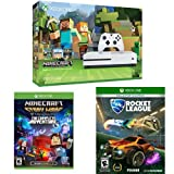 Xbox One S 500GB Console - Minecraft Bundle + Minecraft Story Mode - The Complete Adventure + Rocket League: Collector's Edition (Product Bundle)