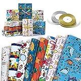 Papier Cadeau, XiYee 8 Feuilles De Papier d'emballage Cadeau et 2 Rouleaux de...
