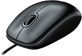 Logitech B100 Corded Mouse – Wired USB Mouse for Computers and laptops, for Right or..