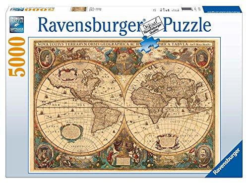 Ravensburger-Mappamondo Antico Jigsaw, 5000 Pezzi Puzzle da Adulti, Et Consigliata 14 +,...