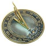 Rome RM2308 Reloj de sol de latón 'Envejece conmigo'
