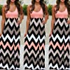 Women Dress, 2018 New Sexy Fashion Striped Long Boho Dress Lady Beach Summer Sundress Maxi Plus Size Skirt (Orange, XXL) #1