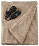 Sunbeam Heated Throw Blanket   LoftTec, 3 Heat Settings, Sand - TSL8TS-R783-31A00