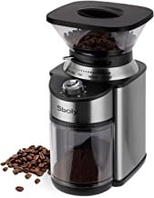 Conical Burr Coffee Grinder, Stainless Steel Adjustable Burr Mill with 19 Precise Grind..