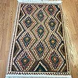 Bohemian Style Turkish Kilim Design Printed Area Rug for Living Dining Room Hallway Kitchen (2.6'x4', Van)