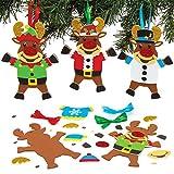 Baker Ross Kits de décorations Renne à Pull de Noël (Paquet de 6) -...