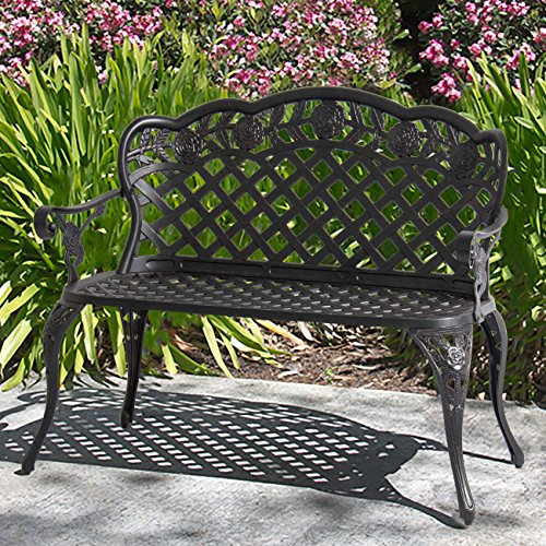 Best Choice Products 2-Person Aluminum Garden Bench Patio Furniture...