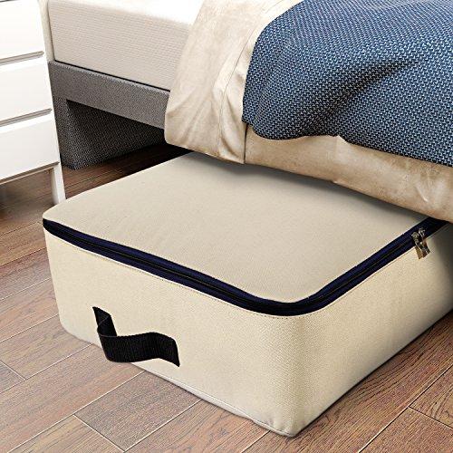 Lifewit 100L Stoff Unterbettkommode, Unterbett Aufbewahrungstasche für Bettzeug/Kleidung/Matratze/Decken/Kissen, Ultra Groß, Faltbar