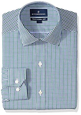 Made in Indonesia Long-sleeve gingham pattern non-iron dress shirt with no pocket, offered in variety of collar types Luxury Supima cotton with a lightweight finish; side pleated back yoke Satisfaction Guarantee: If you are not completely satisfied w...