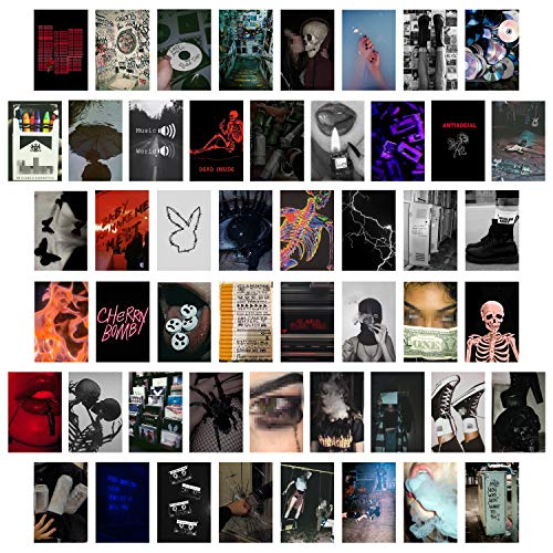 CY2SIDE 50PCS Grunge Aesthetic Picture for Wall Collage, 50 Set...