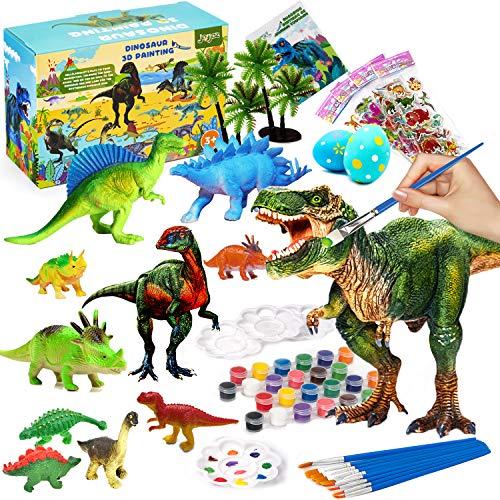 Joyjoz Art Craft Kit per Bambini - 38 Pezzi Giocattoli 3D con Dinosauri Kit di Pittura per Bambini creativit Artigianale Regalo di Compleanno di Natale Fai-da-Te per Bambini Ragazzi Ragazze