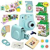 Fujifilm Instax Mini 9 Instant Camera ICE Blue w/Fujifilm Instax Mini 9 Instant Films (60 Pack) +...
