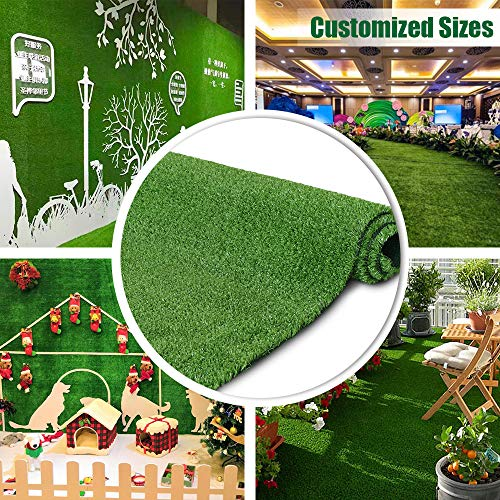 Artificial Grass Turf Lawn 7FTX12FT,Economy Indoor Outdoor...
