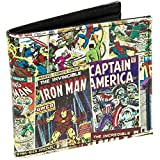 Marvel Comics Men's Graphic Comic Book Wallet (Multi Character)