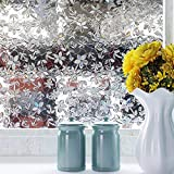 Película de ventana de privacidad 3D color cereza grano de madera etiqueta electrostática etiqueta de vidrio autoadhesiva PVC película de vidrio muebles etiqueta de vidrio decorativa A115 45x200cm