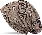 styleBREAKER Bonnet Beanie avec Motif écriture au Design Vintage Destroy,...