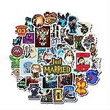 HONGC Pegatinas de Personajes de películas, Pegatinas de Graffiti, Maleta, Equipaje, Guitarra, Pegatinas para Coche, decoración Impermeable, 50 Uds.