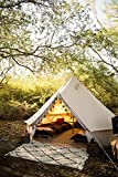 Stout Bell Tent- 100% USA Cotton Canvas, Glamping. Life-Time Warranty. Outdoor & Leak-Proof Guaranteed