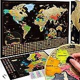 2 Cartes à gratter XXL – Carte du monde + Carte de l'Europe OFFERTE....