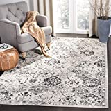 Safavieh Madison Collection MAD611G Bohemian Chic Vintage Distressed Area Rug, 3' x 5', Silver/Grey