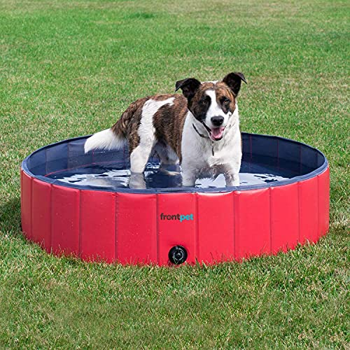 FrontPet Foldable Dog Pool - Collapsible Pet Pool,...