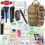 Kit de survie d'urgence 240 en 1 Avec Équipement de plein air,Couteau de...
