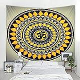 Flor psicodélica Lotus Mandala tapiz bohemio artista decoración del hogar...
