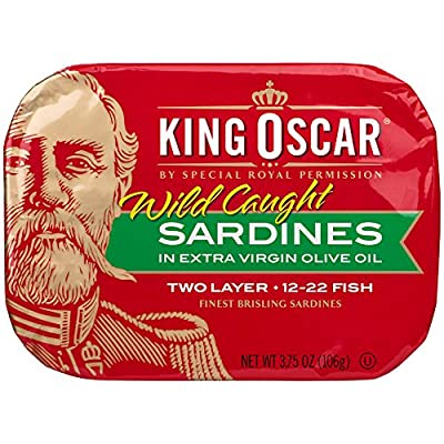Wild-caught, wood-smoked, hand-packed and a natural source of omega-3s. Ingredients: Brisling sardines, olive oil, salt. A SIMPLE, LOW-CARB, CONVENIENT SUPERFOOD - Omega-3s, protein, calcium, iron. Non-GMO, gluten-free, no sugars added, low carb. Rea...