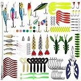Magreel Kit de Leurre Accessoires de Pêche 110PCS Cuiller Leurre Tournant...