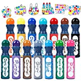 Shuttle Art Dot Markers, 14 Colors Highly Washable Bingo Daubers Dabbers Dauber Dawgs for Kids Toddlers Preschool Children Art Craft Supply with 10 Patterns Double Adhesive Paper
