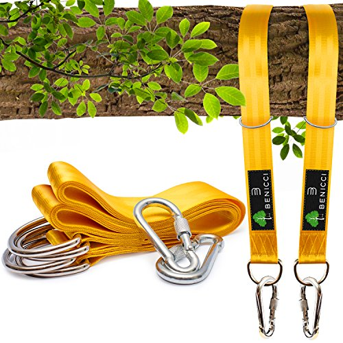 Safe Tree Swing Hanging Kit (Set of 2) - 10ft Long Straps with Two...