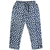 ROCK ATOLL Men's Animal Wolf Penguin Polar Bear Print Soft Flannel Pajama Bottoms (Medium, White Polar Bears on Blue)