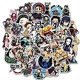 LANYU Pegatinas de Anime Demon Slayer para Coches, Motocicletas, Muebles, Juguetes para niños, Equipaje, patinetas, Ordenadores, etc, 50 Uds.