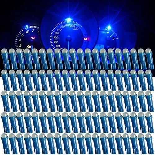 TABEN T5707374798586206406lampadine LED Cob 1SMD blu 1W 12V auto interior Instrument cluster gauge LED luci cruscotto segnale lampadine LED (confezione da 4)