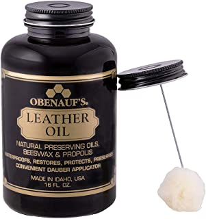Obenauf's Leather Oil Conditions Restores Preserves Dry Leather (16oz With Applicator)