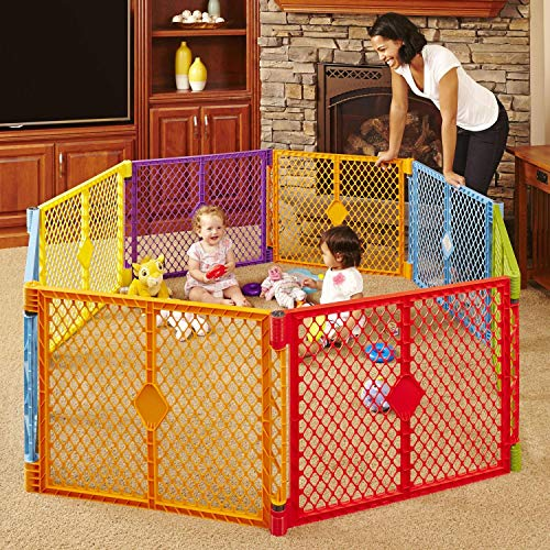 Toddleroo by North States Superyard Colorplay 8-Panel Play Yard: Safe...