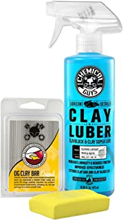 Chemical Guys CLY_113 OG Clay Bar & Lubber Synthetic Lubricant Kit, Light/Medium Duty..