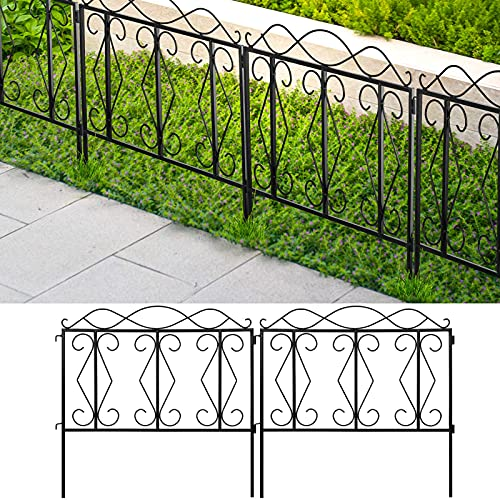Amagabeli Decorative Garden Fence 24' high x 24' Wide 5 Panels in...