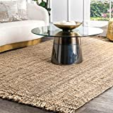 nuLOOM Natura Collection Chunky Loop Jute Rug, 7' 6' x 9' 6', Natural
