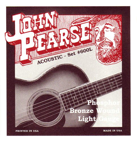 John Pearse 600L Phosphor Bronze Acoustic Guitar Strings
