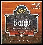 GHS BANJO PHOSPHOR BRONZE - PF150 - Jeu De 5-Cordes - 010/010
