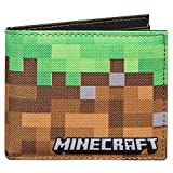 JINX Minecraft Dirt Block Nylon Bi-Fold Wallet, Multi-Colored, One Size
