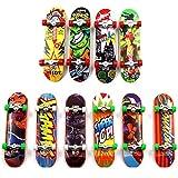 Sipobuy Mini Fingerboard, 4 Pack Skateboard professionnel Finger pour Tech Deck Érable Wood Ensemble de bricolage Skate Boarding Jouets Jeux de sport Cadeau pour enfants